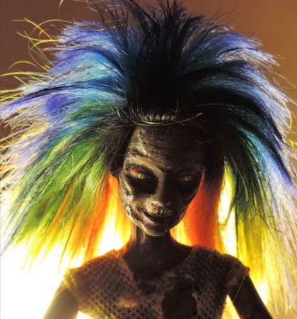 Raver Girl Zombie Doll