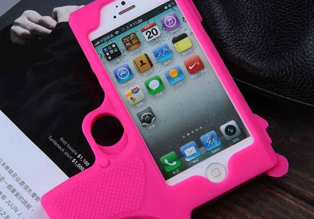 Raytop Gun Shaped Soft Silicone iPhone Cover Awesome Stuff to Buy