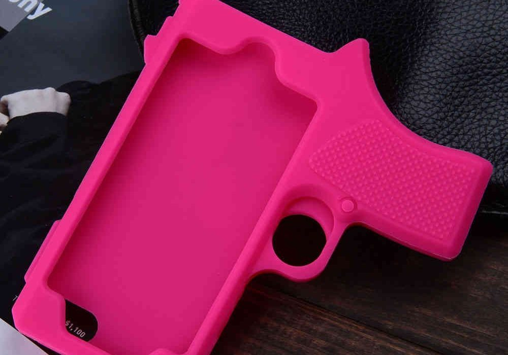 Raytop Gun Shaped Soft Silicone iPhone Cover Pink
