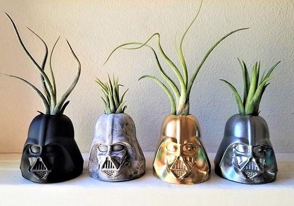 Redwood Stonework Darth Vader Inspired Planter Decoration