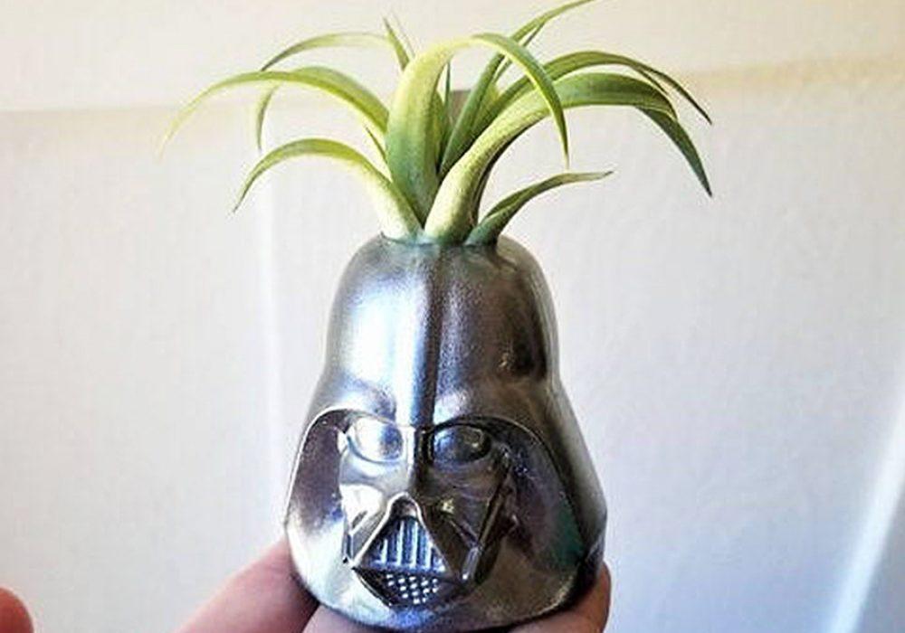 Redwood Stonework Darth Vader Inspired Planter Planters
