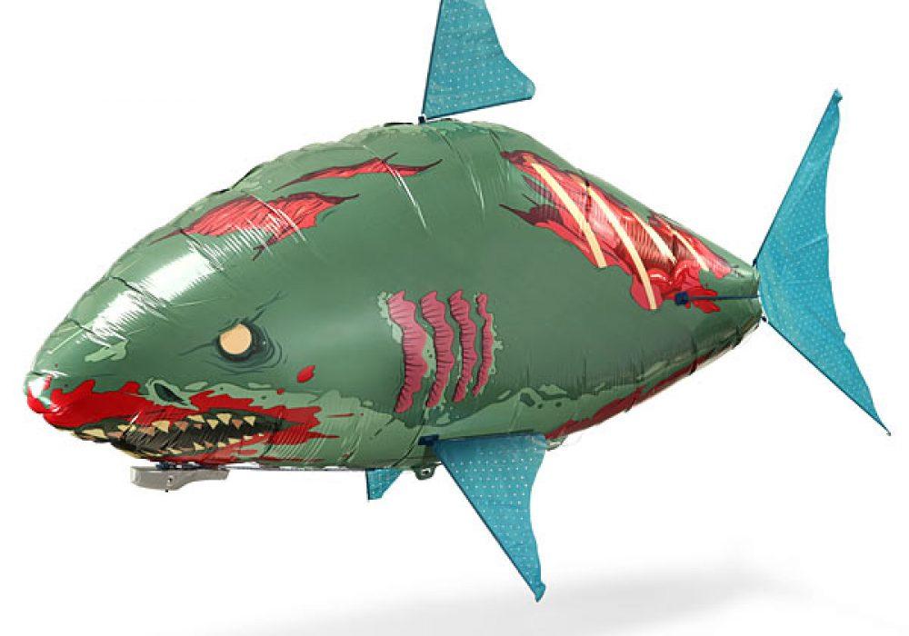 Remote Control Flying Zombie Shark Mylar Blimp