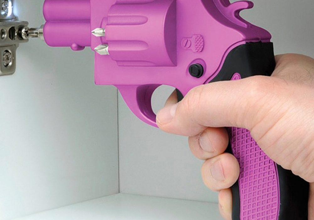 Revolver Shaped Screwdriver Hand Tool