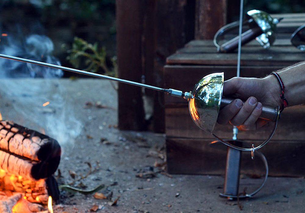 Roastyz Toastyz Zorro Sword Campfire Roaster Marshmallow Toaster