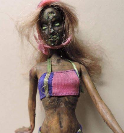 Rollerblading Beach Babe Zarbie Zombie Barbie Doll