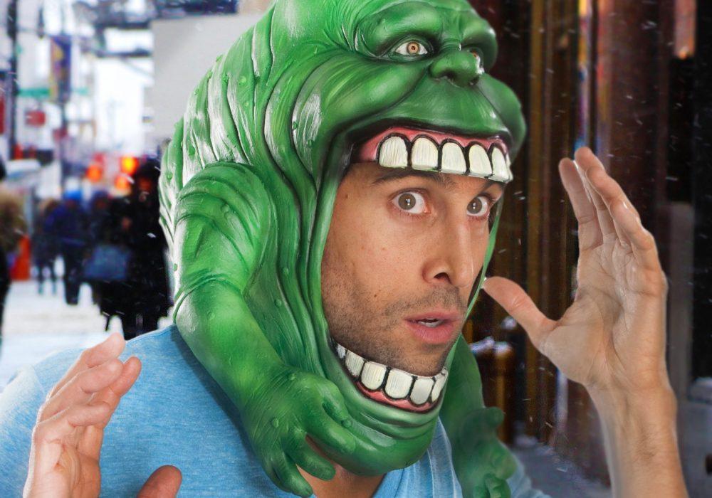 Rubies Ghostbusters Slimer Headpiece Costume Funny Halloween Get Up to Buy