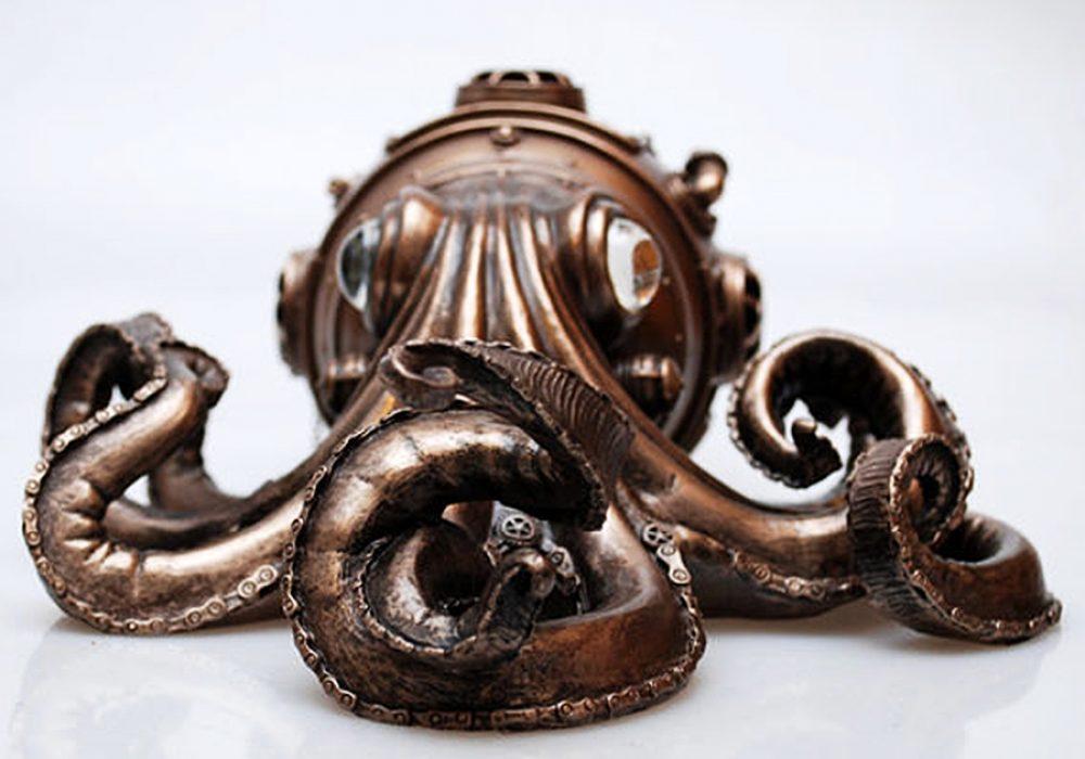 S.T.B. Art Steampunk Octopus Vintage Item