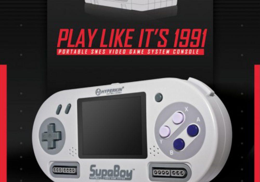 SUPABOY Portable Pocket SNES Console Play Like Its 1991 Retro Gadget Gift Idea
