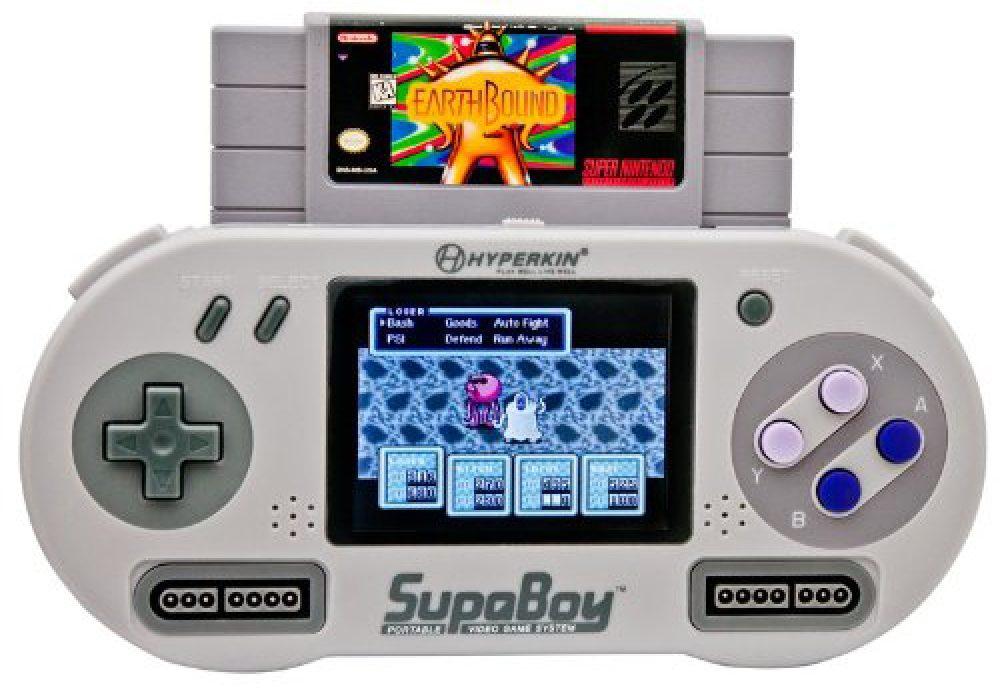 SUPABOY Portable Pocket SNES Console Play Nintendo Retro Games Earth Bound