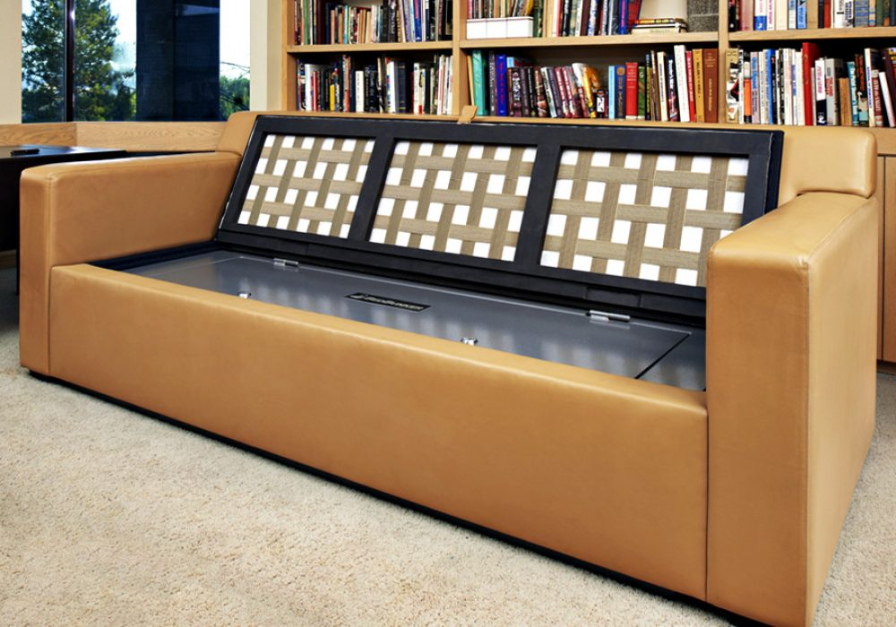 Safety and Security Couch Bunker Safe Hidden Safes