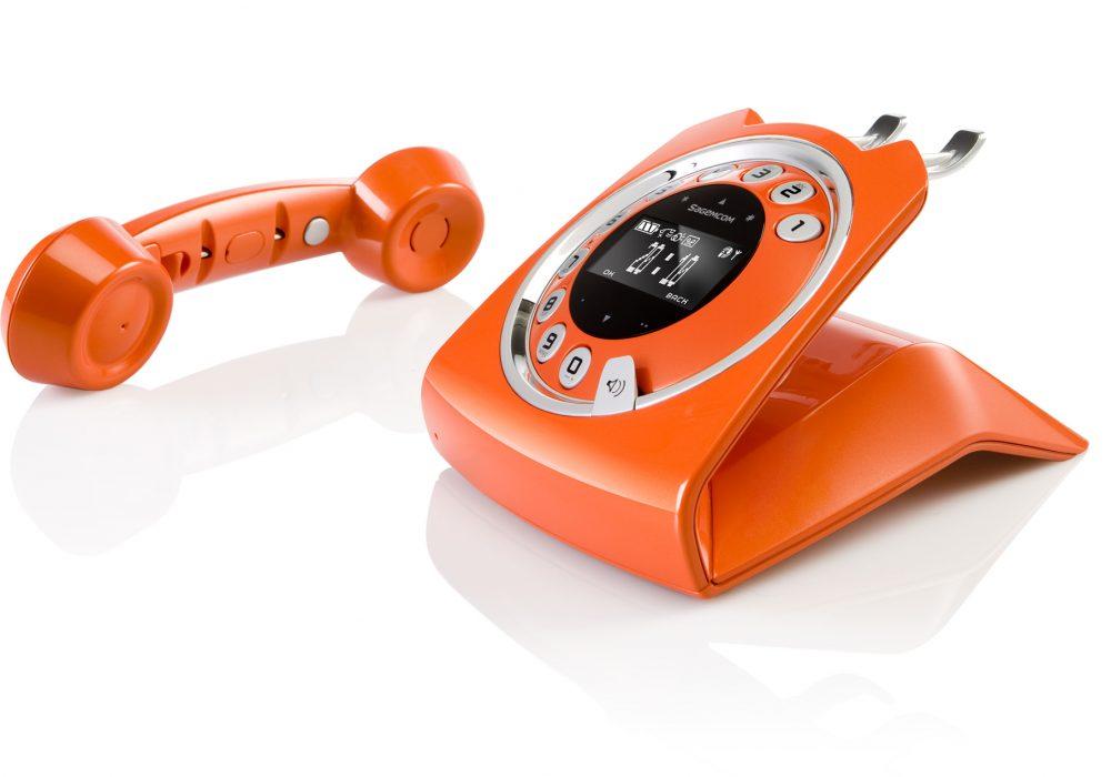 Sagemcom Sixty Cordless Telephone Orange Classic