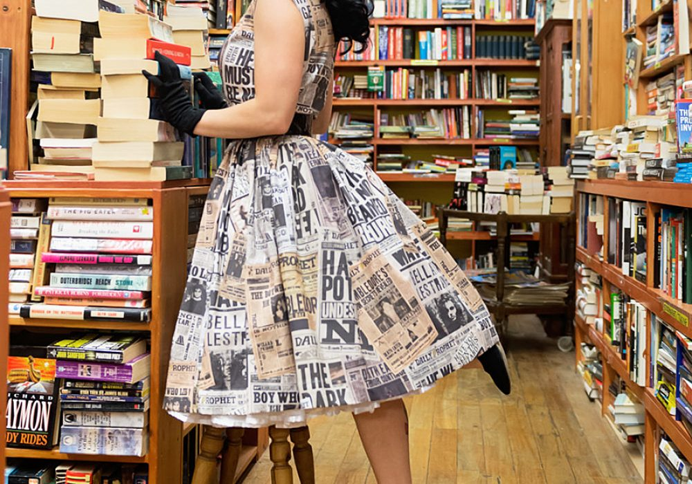 sarsparilly-50s-style-wizard-headlines-cotton-dress-daily-prophet-newspaper-design