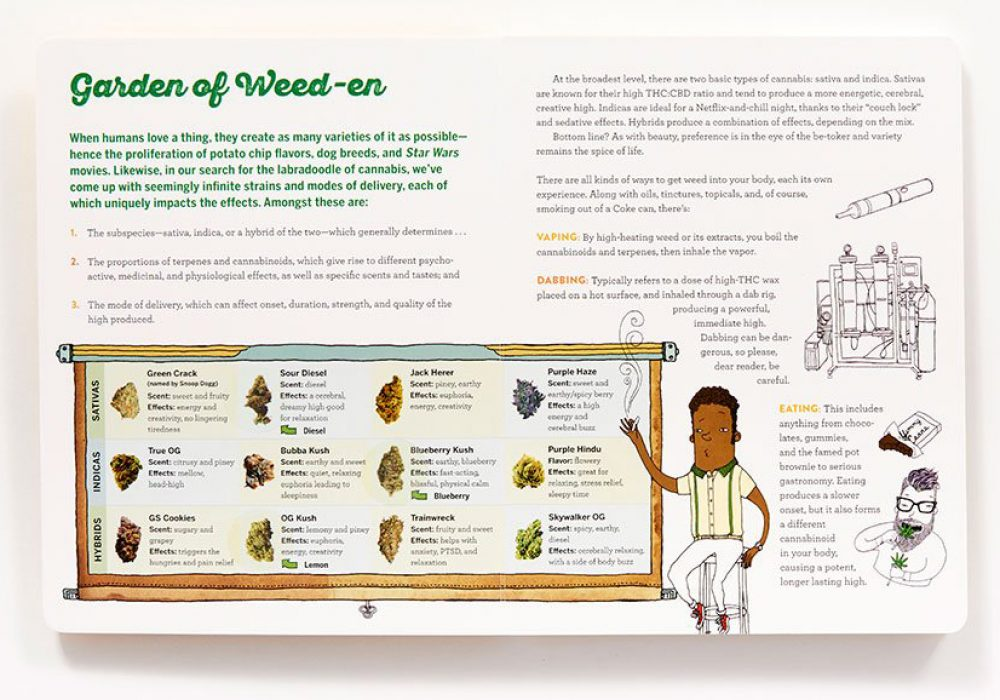 Scratch & Sniff Book of Weed Garden of Weed Page