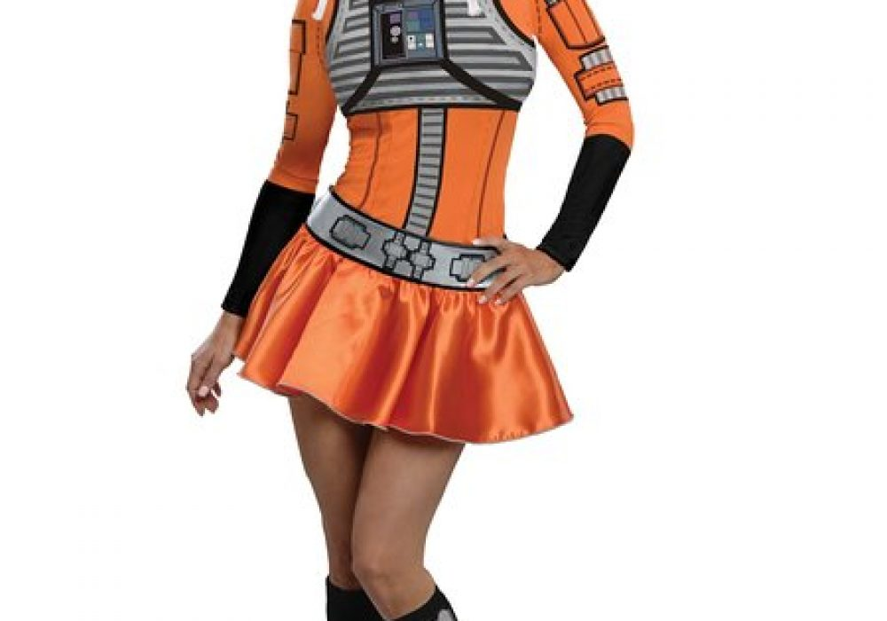 Secret Wishes Star Wars Female Mini Skirt Costumes X-Wing Fighter for Halloween
