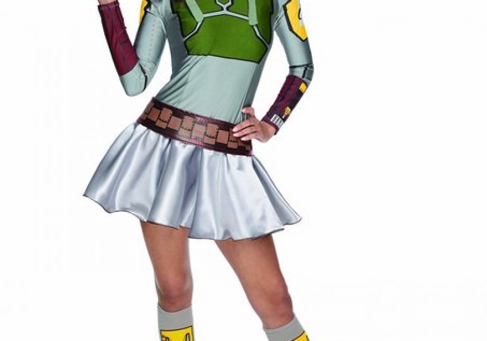 Secret Wishes Star Wars Female Mini Skirt CostumesBoba Fett for Halloween