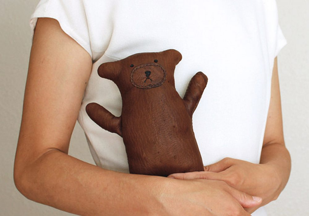 Seki Works Kuma Chan Leather Teddy Bear Novelties