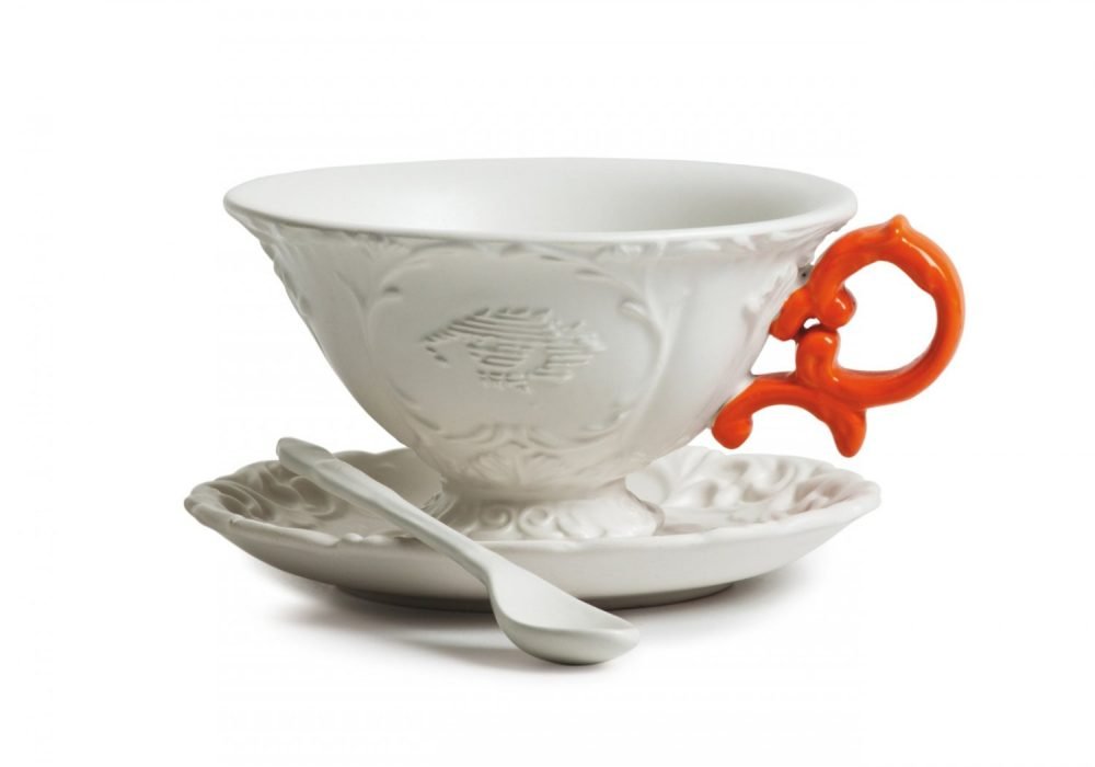 Seletti I Tea Cup Orange Fancy Design