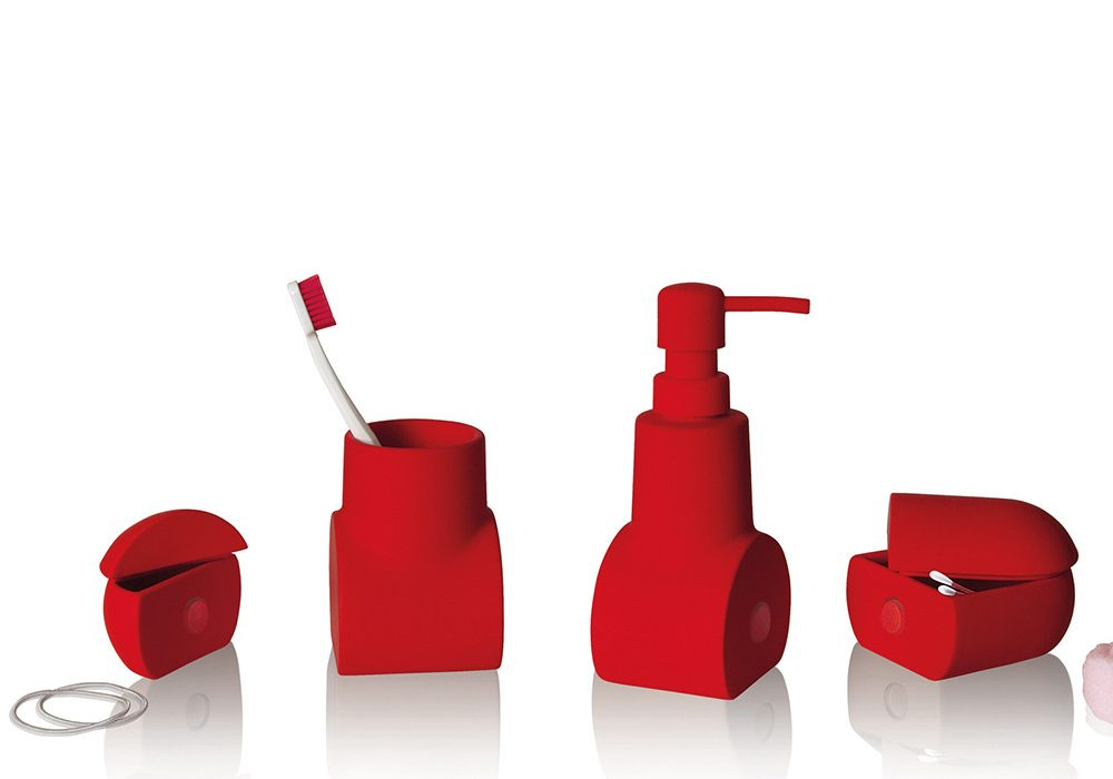 Seletti Submarino Bathroom Accessory Red Sub for Chic and Stylish College Dorm