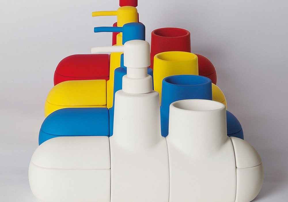 Seletti Submarino Bathroom Accessory The Whole Fleet of Rubber Painted Porcelain Subs