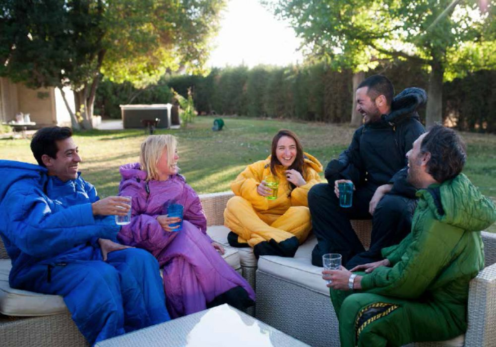 Selk Wearable Sleeping Bag Backyard Camping with Friends Comfortable Jacket