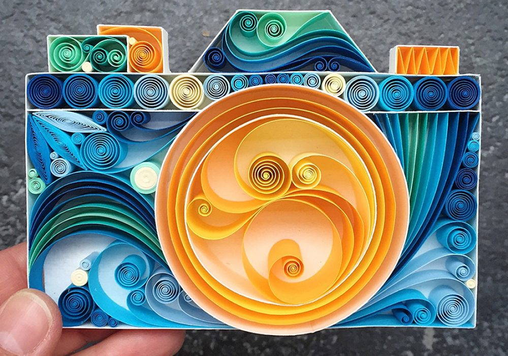 SenaRuna Keep Smile & Say Cheese Quilled Paper Art Home Decoration
