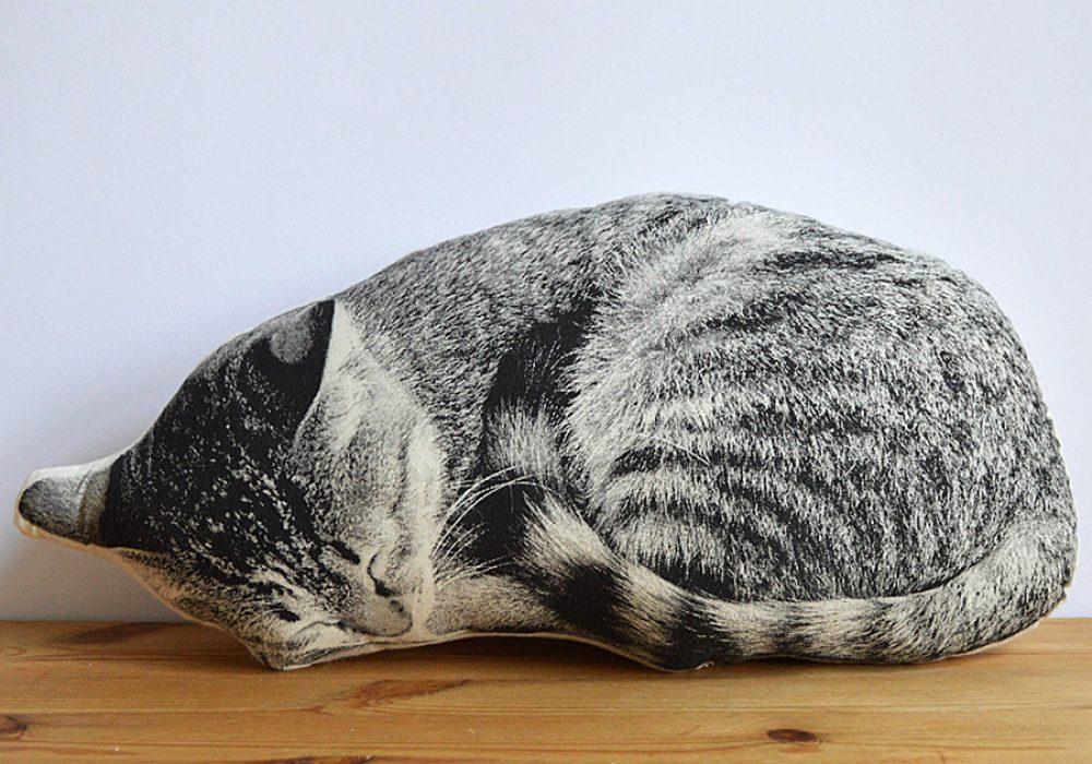 Shannon Broder Sleeping Cat Plush Pillow Home Shopping