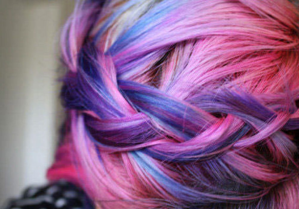 Sharee Boutique Temporary Colored Hair Chalk Pink and Purple