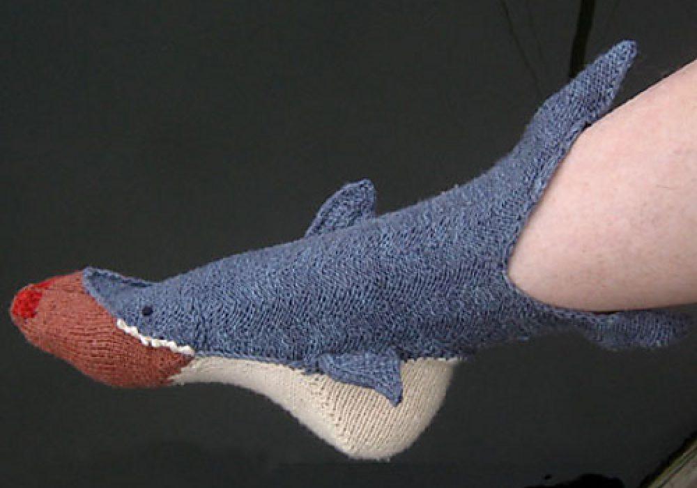 Shark Week Socks by Tsarina of Tsocks Cool Socks you Cant Buy