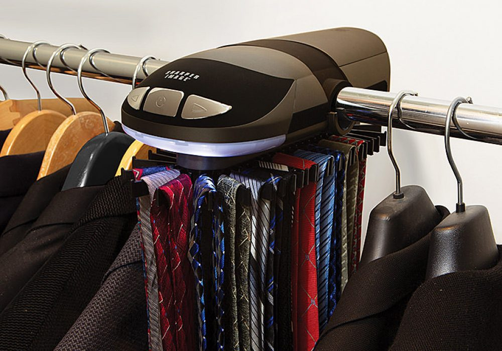 Sharper Image Motorized Tie Rack Buy Dad Cool Gift Idea