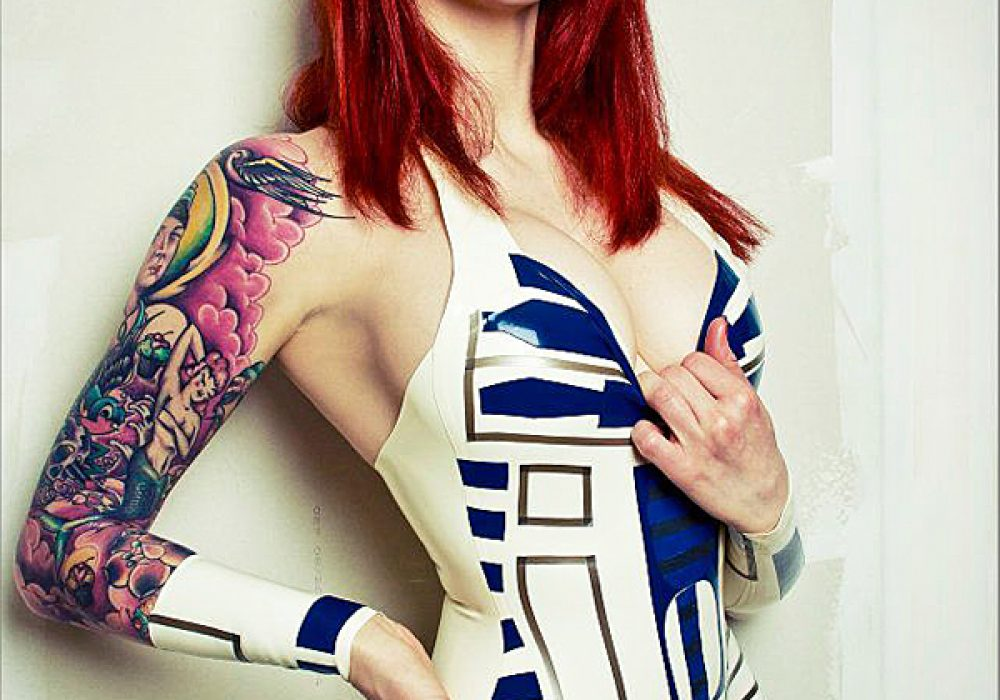 Shhh! Couture R2D2 Inspired Bodysuit Starwars Geek Wear
