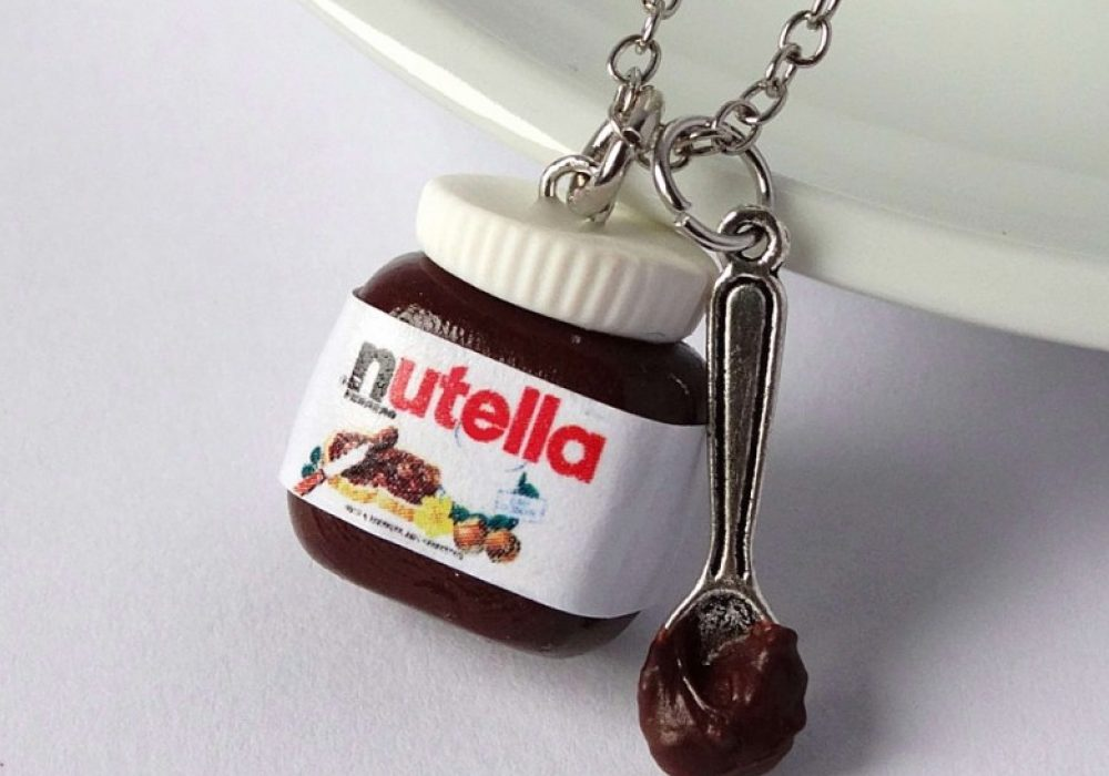 Shiny Stuff Creations Kawaii Nutella with Spoon Necklace Chocolate Lovers Must Have