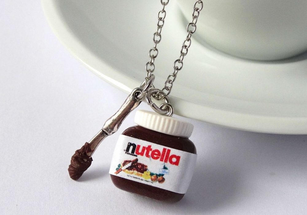 Shiny Stuff Creations Kawaii Nutella with Spoon Necklace Cute Handmade Accessories