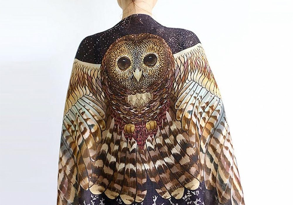 Shovava Owl Wings Scarf Beautiful Wraps