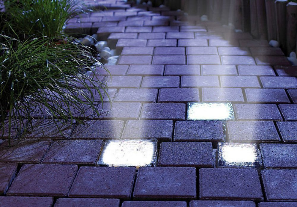 Signstek Solar Powered Path Brick Paver Light Buy Cool Garden Lighting