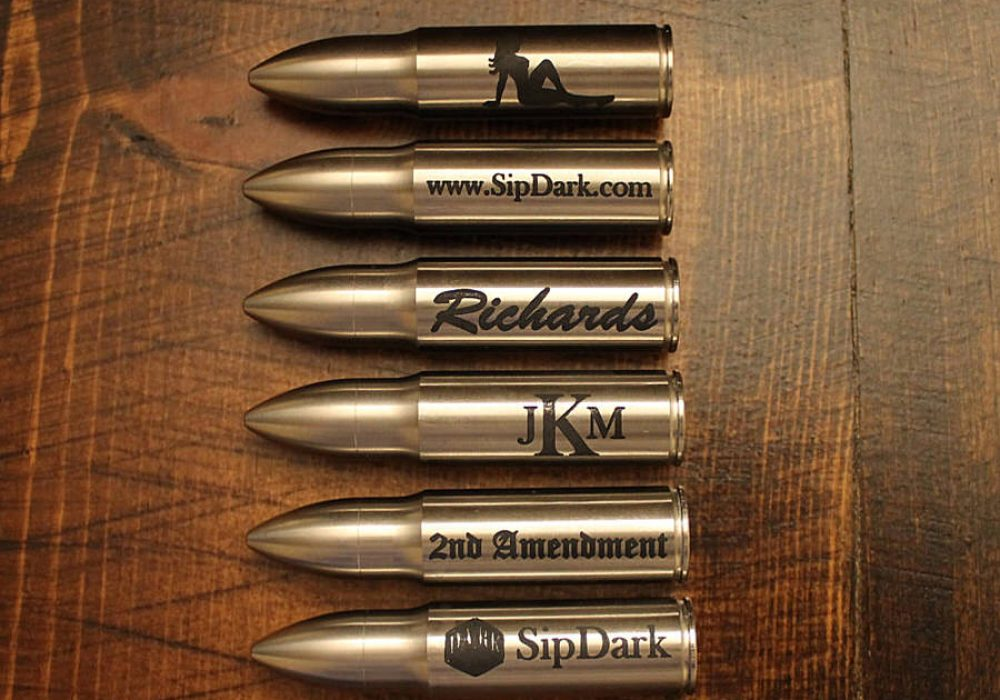 Sip Dark Custom Engraved Whiskey Bullet Buy Cool Personalized Gift for Men