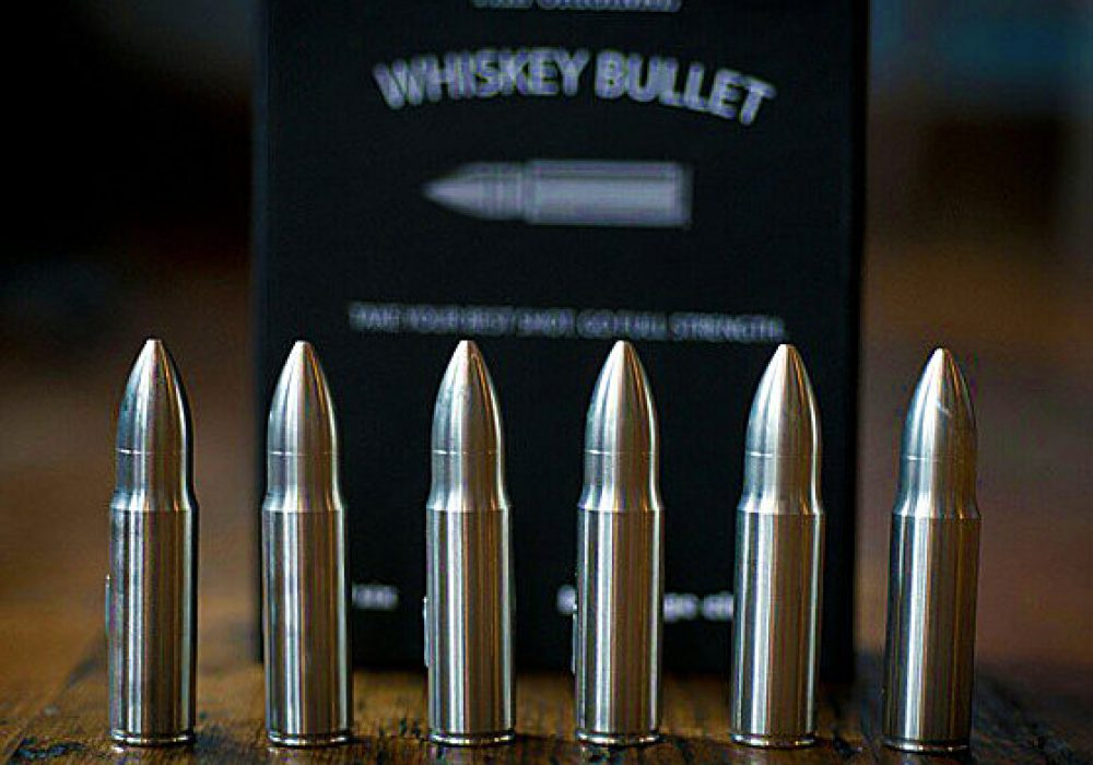 Sip Dark Custom Engraved Whiskey Bullet Dad Gift Idea