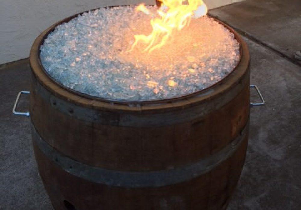 Smokin Barrel Works Whiskey Barrel Fire Pit Man Cave Item