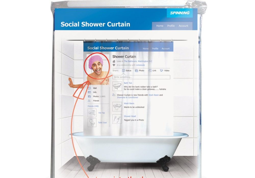 Social Shower Curtain Package