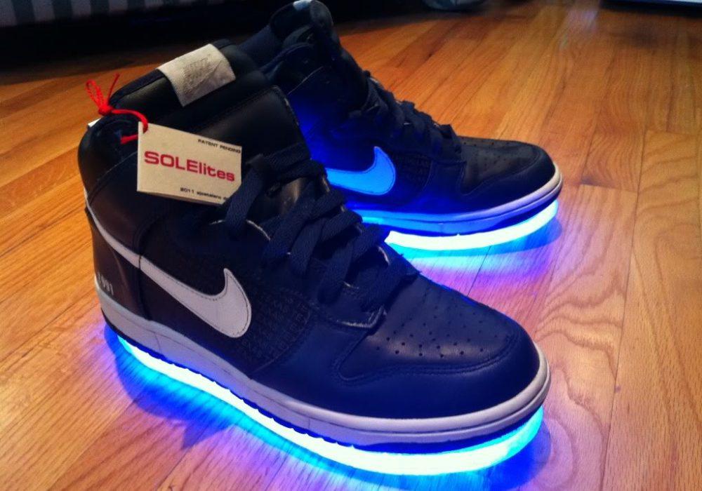 Solelites Custom Tron Glowing Shoes Blue Nike Cool Stuff to Buy