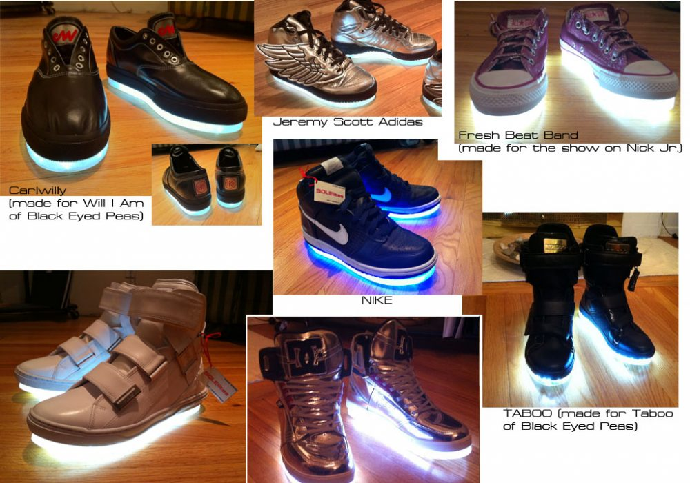 Solelites Custom Tron Glowing Shoes Party Club Accessory