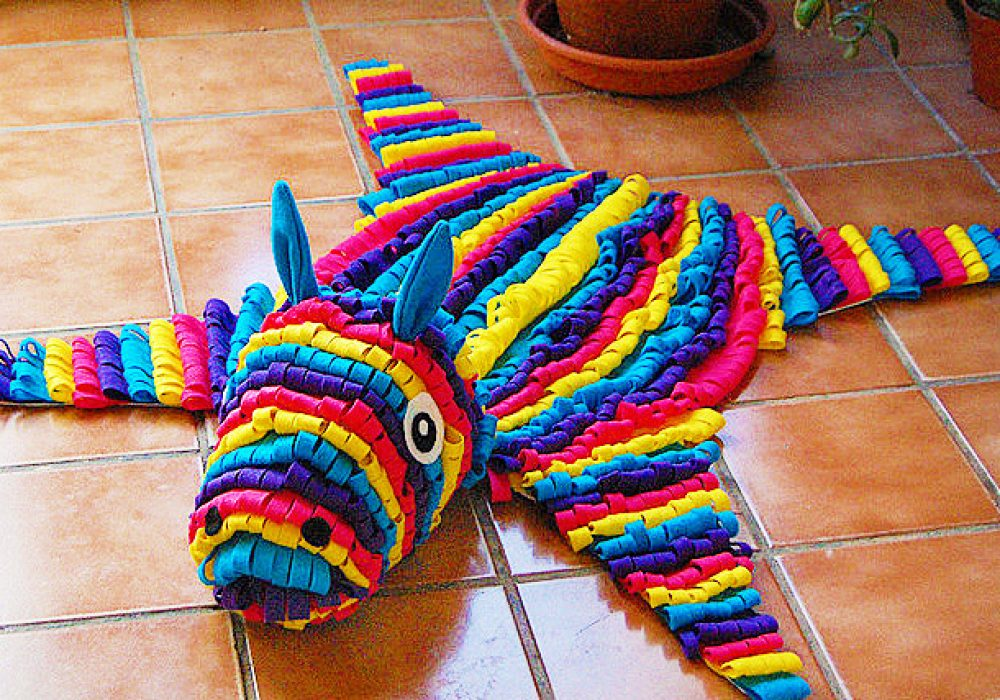 Some Rabbits Felt Piñata Skin Rug Festive Party Decoration