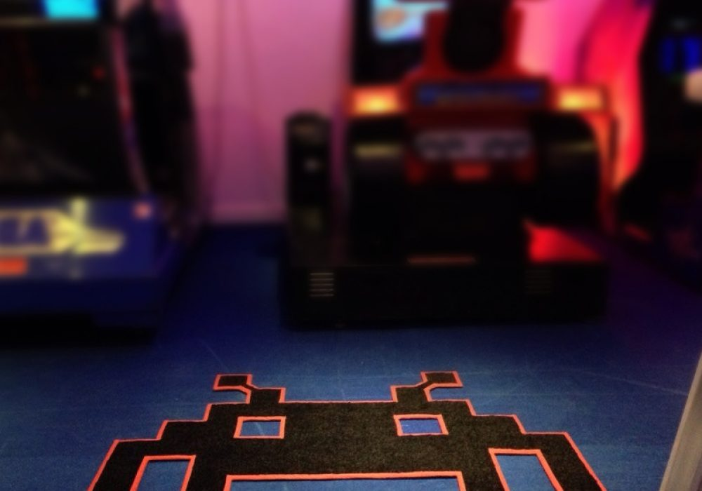 Space Invaders Mats Space Invader Shaped Rug Geek Stuff to Buy
