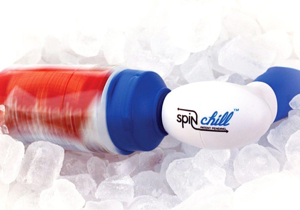 SpinChill Portable Drink Chiller for Canned or Bottled Beverages