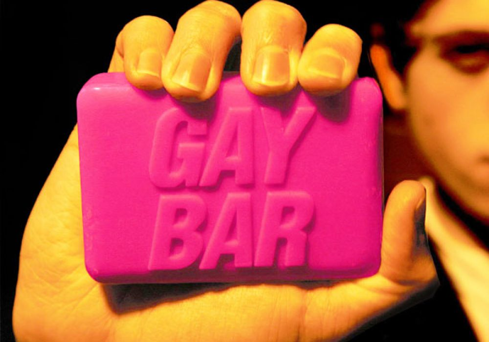 Spinning Hat Gay Bar Soap Fight Club Gag Gift