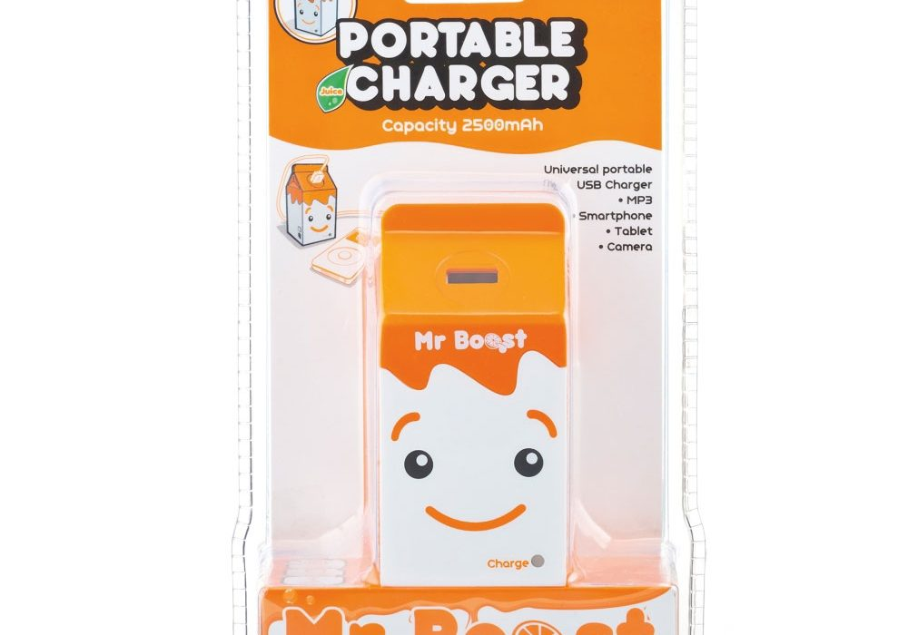 Spinning Hat Juice Box Portable Charger Cute Gift Idea for Her