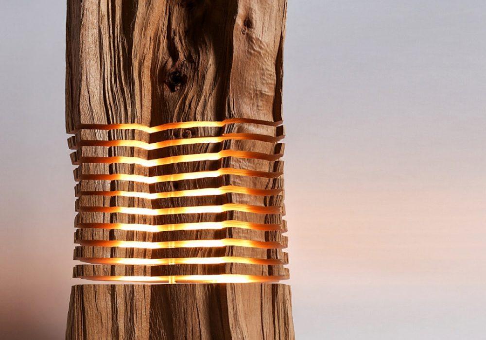 Split Grain Light Sculpture Minimal Art Great Tabletop Piece