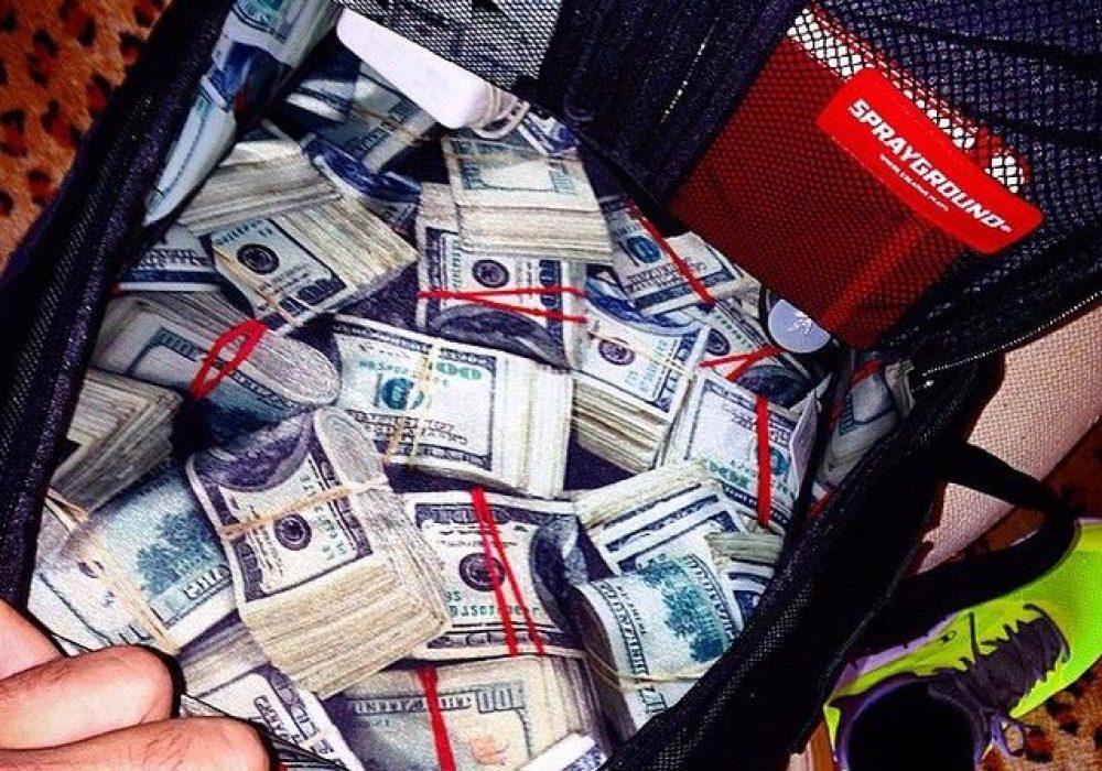 Sprayground $tashed Money Black Backpack Buy Gift for Kids