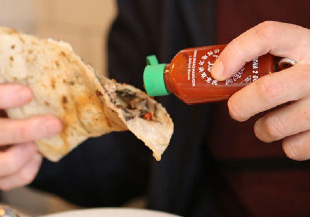 Sriracha2Go Miniature Refillable Bottle Keychain Best Pizza Chili Sauce