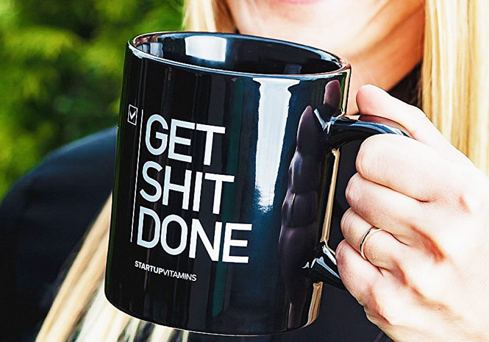 Startup Vitamins Get Shit Done Coffee Funny Mug Drinkware