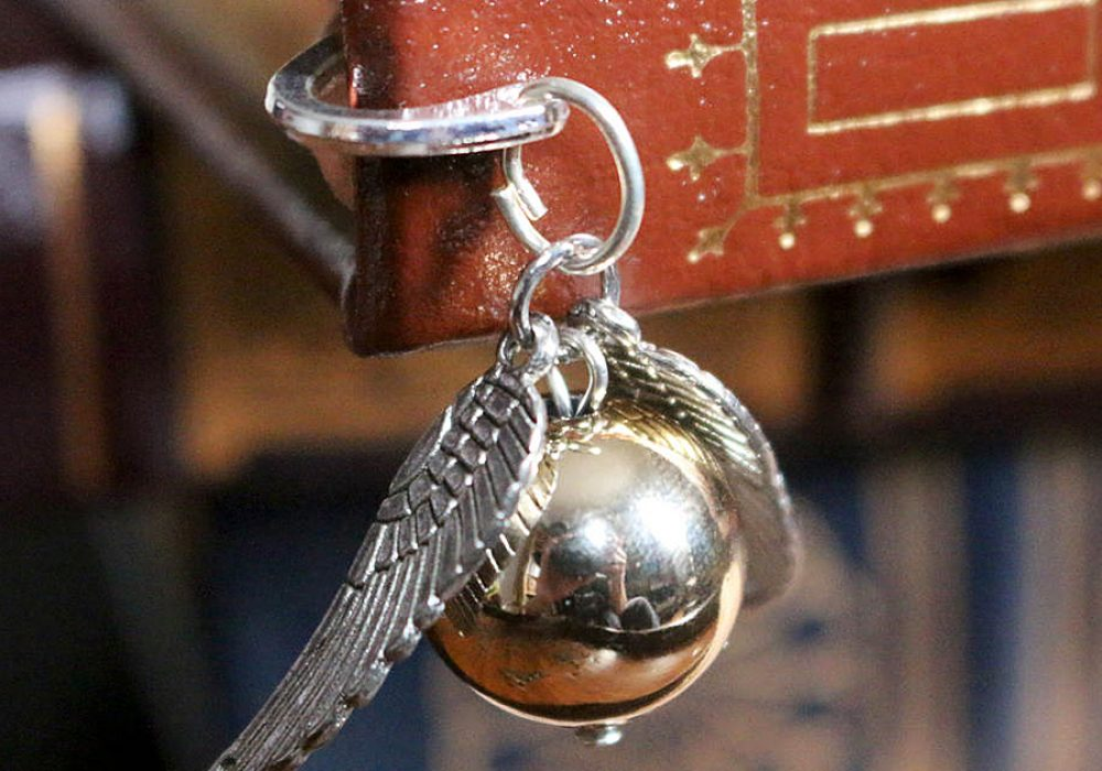 SteamWolf Golden Snitch Mini Metal Bookmark Charm
